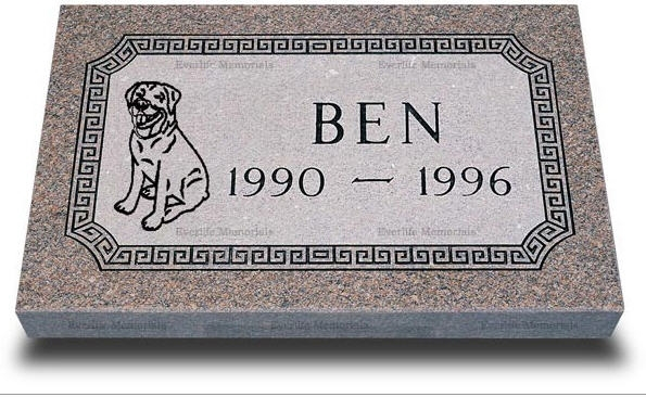 Premium Granite Grave Marker For Pets By Everlife Memorials