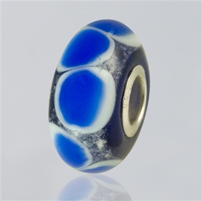 Blue Dots Glass Cremation Bead for Pandora Bracelets