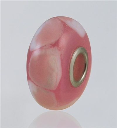 Pink Dots Glass Cremation Bead for Pandora Bracelets