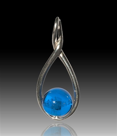 Melody Glass Pearl Cremation Pendant - Blue