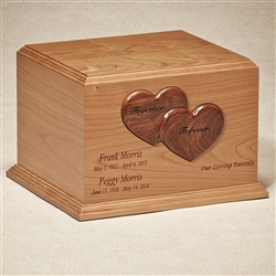 The Together Forever Wood Companion Urn