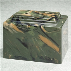 Camouflage Cultured Marble Urn