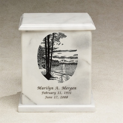 Evermore Square Marble Urn By Everlife Memorials