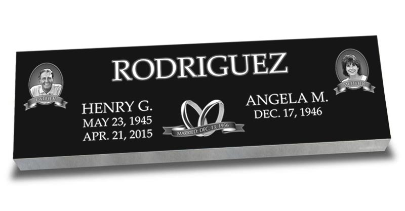 Companion Laser Engraved Headstones
