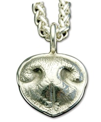Small Dog Nose Print Pendant