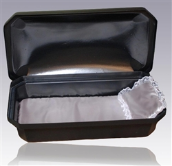 Standard Pet Casket in Black/Silver