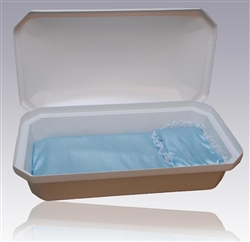 Standard Pet Casket in White/Blue