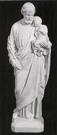 St Joseph With Child Marble Statue