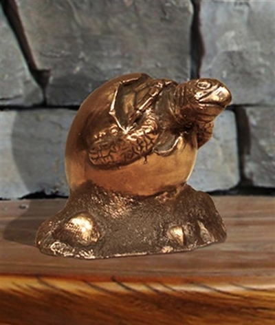 The Awakening Bronze Turtle Keepsake Urn