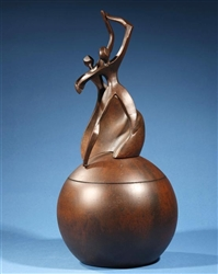Dance of Life Individual Urn with Wood Finish