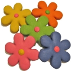 Groovy Flower Dog Cookies