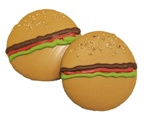 Hamburger Dog Cookies