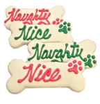 Naughty & Nice Dog Bones and Holiday Treats Cookies