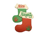 Naughty & Nice Stocking Dog Cookies
