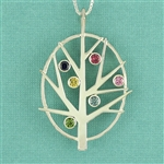 Family Tree Birthstone Pendant