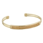 Name Cuff Bracelet, One Tone with Rectangle Face