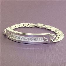Gianni Name Chainf Bracelet, Pierced One Tone with Rectangle Face