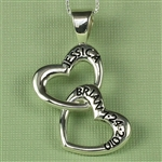 Interlocking Heart Name Pendant