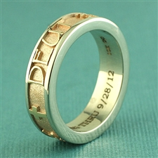 Gianni Name Ring, Two Tone with Satin Band
