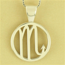 Horoscope Symbol  Pendant, One Tone