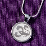 Horoscope Symbol Pendant with Image, One Tone