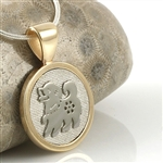 Chinese Zodiac Animal Pendant, Two Tone