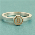 Mosaic™ Stacking Ring with 6mm Round Initial