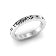 Stackable Flat Roman Numeral Ring