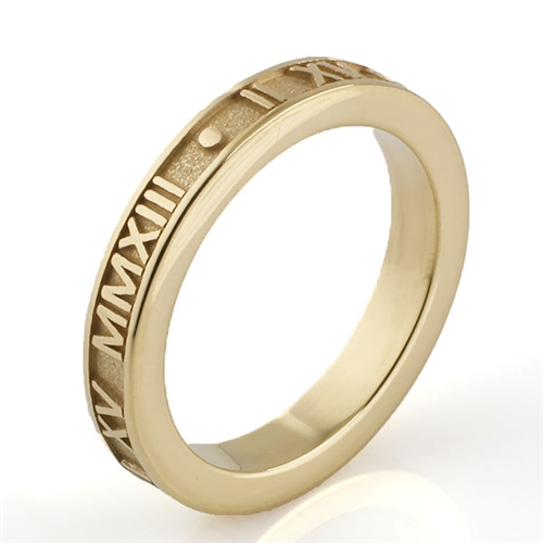Stackable Roman Numeral Ring Personalized With Your Date