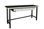 Homack MFG STEEL WORKBENCH W/ 3 DRAWERS & WOOD TOP
