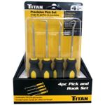 Titan 6 Pc Counter Display - 4 Pc. Pick and Hook Set