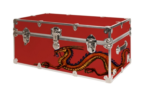 Dragon Design Large College Dorm Trunk