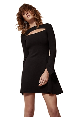 C/Meo Collective Elision Knit Dress in Black