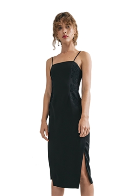 C/Meo Collective Paradise Strapless Dress In Black
