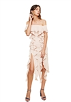 C/Meo Collective Dream State Midi Dress in Blush