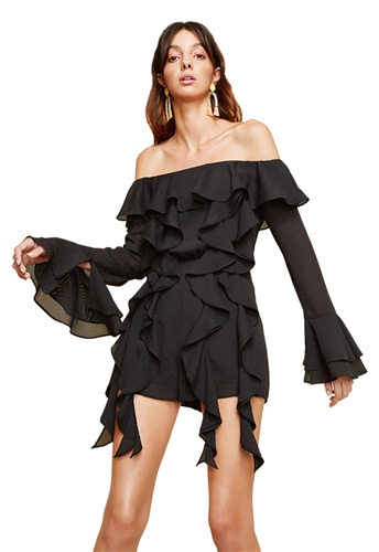 C/Meo Collective Dream State Playsuit in Black