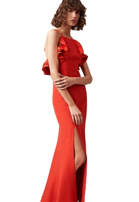 C/Meo Collective Outline Gown in Cherry