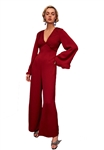 C/Meo Collective Visceral Jumpsuit in Berry