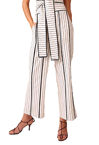 C/Meo Collective Effigurate Pant in Ivory Pinstripe