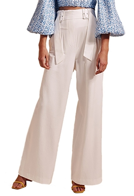 C/Meo Collective Silenced Wide Leg Pant in Ivory
