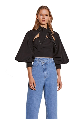 C/Meo Collective Origin Crop Top in Black
