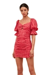 C/Meo Collective Early On Mini Dress in Pink Woodgrain