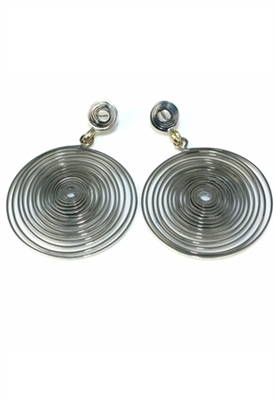 Sibilla G Spiral Galaxy Silver Earrings | ShopAmbience