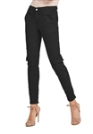 Blue Revival Teddy Mid Rise Zip Ankle Cargo Pant In Black