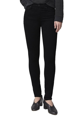 Citizens of Humanity Rocket Mid Rise Skinny Jeans in Plush Black