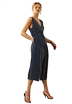 C/Meo Collective Shadow Of Jumpsuit in Navy/Ivory