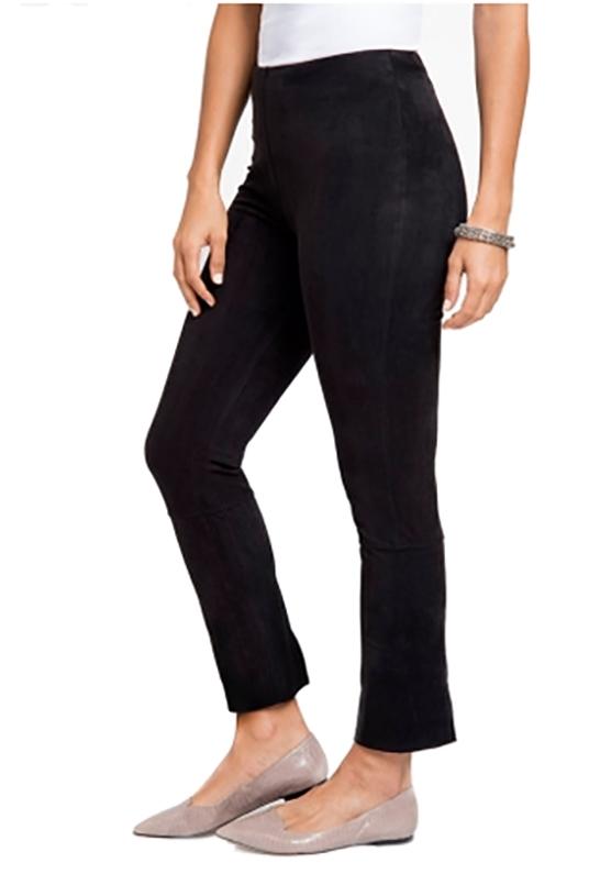 9861f72a8 Lysse Back Split Faux Suede Legging in Black