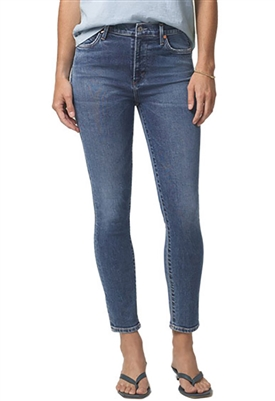 Citizens of Humanity Rocket Crop Mid Rise Skinny Jeans in Story
