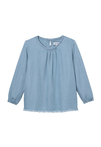 DL1961 Remi Toddler (Girls) Blouse in Mid Wash