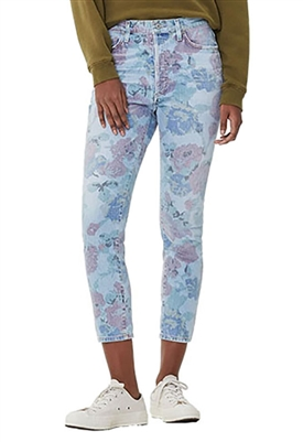 Citizens of Humanity Olivia High Rise Slim Crop in Bouquet